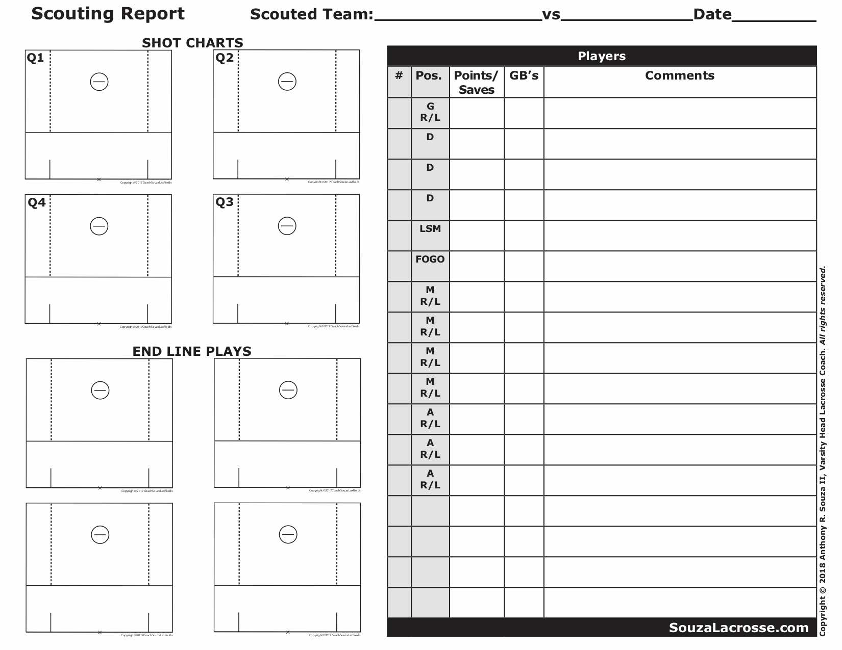2bd Basketball Scouting Report Template Sheets